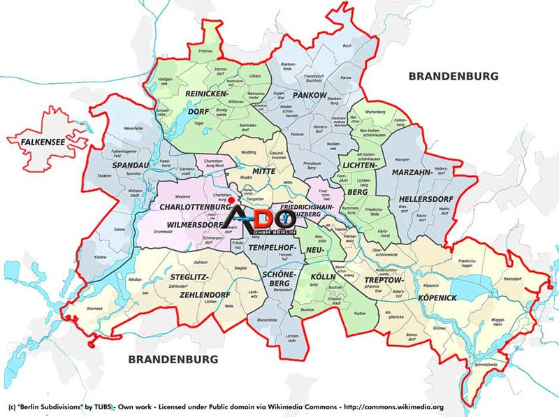 ADO Coverage Map for Locksmith in Berlin