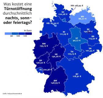 Kosten Schlüsselnotdienst nachts in Berlin